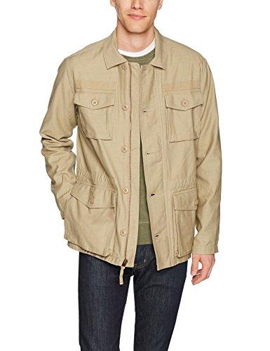 Goodthreads Men's 4-Pocket Military Jacket, New British Khaki, Small