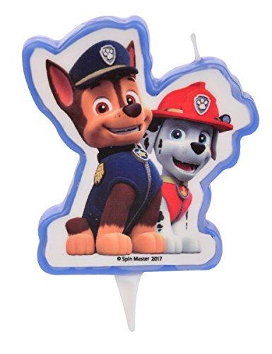 Generique - Candela di Compleanno Paw Patrol Chase e Marshall Taglia Unica