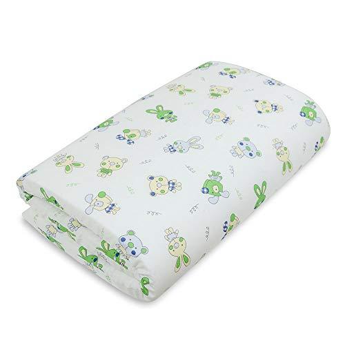 Babysanity materassino per lettino da campeggio 120x60x4 in fantasia o tinta unita sfodrabile (Fantasia animaletti)