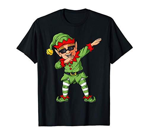 La familia de los elfos emparejando a los niños de Navidad Camiseta