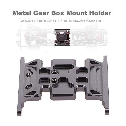 Fesjoy Gear Box Holder, Gear Box Mount Holder Metal for Axial Scx10 RC4Wd Tfl 1/10 RC Crawler Off-Road Car