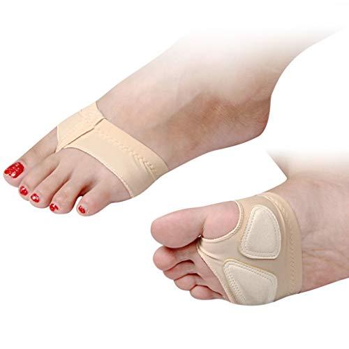 YCYEER Frauen Ballett Bauchtanz Halbsohle Pfoten Pad Fuß Thong Dance Paw Schuhe Vorfuß Pads Toe Unterwäsche 1 Paar Fußpflege (Farbe : Skin Tone, größe : S)