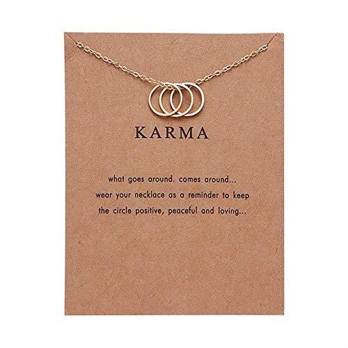 Surphy Moda Karma Paper Card Tres Anillos Collares