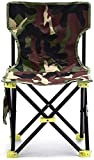 Silla plegable portátil para acampar al aire libre, 1 pieza de 36 cm x 36 cm x 31 cm x 59 cm, silla plegable de camuflaje para acampar, senderismo, playa, pícnic, descanso (color: como en la imagen)
