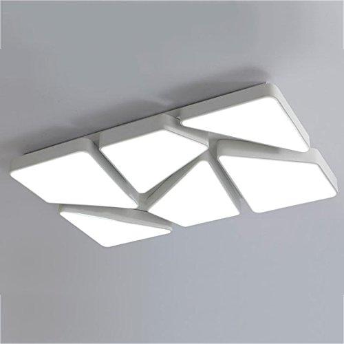 GPZ-iluminación de techo Luz de techo LED, moda creativa luz de techo Rectángulo luces de la sala de estar Dormitorio moderno luces atenuación Lámparas de personalidad [Clase energética A ++]