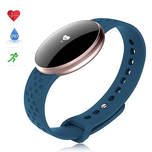 Smartwatch Donne,Uomo Fitness Smart Watch con Sentire Tasso Sonno Monitor contapassi per Android iOS telefoni