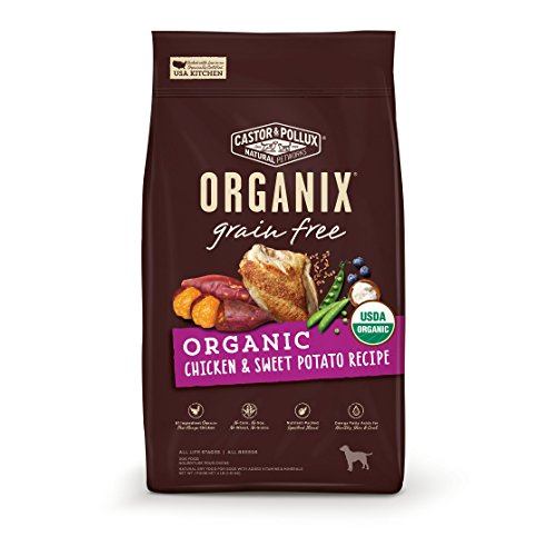 Castor & Pollux Organix Grain Free Organic Chicken & Sweet Potato Recipe Dry Dog Food 4Lbs