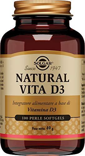 Solgar Natural Vita D3 , 100 perle softgel
