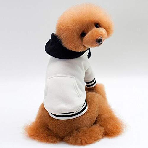CHUANGJIE Hond trui/katoen plus fluwelen huisdier trui, kleur bijpassende capuchon huisdier sportkleding