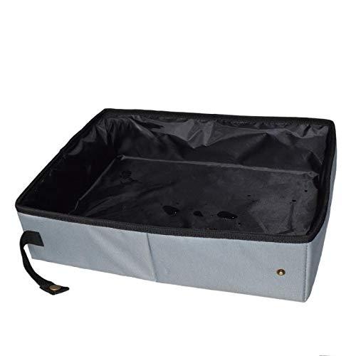 Fltaheroo Caja de arena plegable de viaje para mascotas, bandeja de inodoro para perro, bandeja plegable de arena para cama impermeable al aire libre plegable caja de arena L
