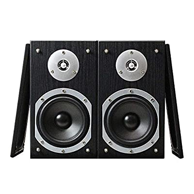 Fenton SHFB55B Home HiFi Cinema Bookshelf Speakers (Pair) Surround Sound System Black 140W from Tronios BV
