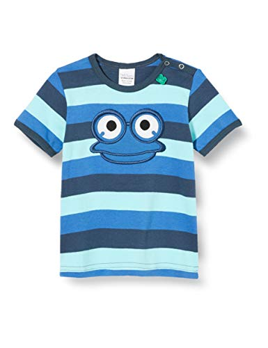 Fred'S World By Green Cotton Hello Fred S/s T T-Shirt, Multicolore (Blue 019403901), 86 Bébé garçon