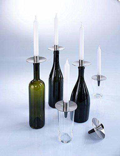 Unbekannt Odin Flaschenkerzenständer Capo KF1-3 x Kerzenhalter aus Edelstahl im Set