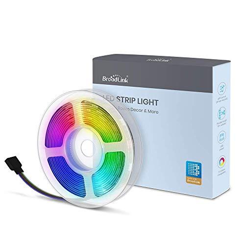 Retroilluminazione a LED per TV BroadLink, luci di striscia LED da 9,8 piedi con telecomando per TV da 32-60   , alimentato tramite USB, funziona con telecomando IR RM4 Mini RM4 pro