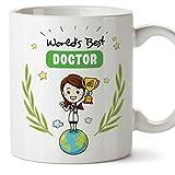 MUGFFINS (Taza en inglés) doctor. Taza original - el mejor médico del mundo - 11 oz de cerámica