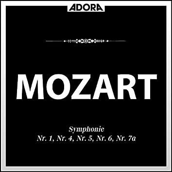 Mozart: Symphonie No. 1, 4, 5, 6 und 7A