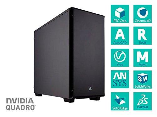 Workstation Razor Blade MX-450v2 (Xeon E3 1240V6, Quadro P2000, 16GB DDR4, HD 1TB, SSD 120GB) (Xeon E3 1270V6 | Quadro P4000)