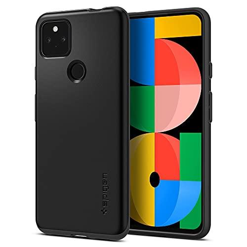 Spigen Google Pixel 5a 5G ケース 対応 超極薄 レンズ保護 超薄型 超軽量 指紋防止 マット仕上げ シン・フィット ACS02906 (ブラック)