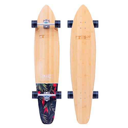 TailorShape Race Clothes 44' Bamboo and Canadian Maple Longboard Skateboard Cruiser