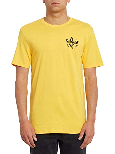 Volcom Stoker BSC SS Camiseta De Manga Corta, Hombre, Citrus Gold, S