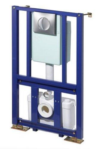 SFA 0035 Abwasser-Hebeanlage SaniWall Pro mit Tragegestellt, Spülkasten, weiß