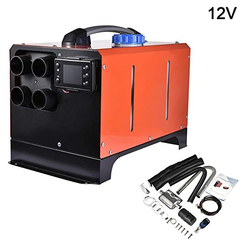 Jinclonder 2019 Upgraded Diesel Air Heater staande verwarming, 5 KW 12V / 24 V all-in-one diesel staande verwarming met LCD-display en afstandsbediening voor auto RV boten bus caravan en meer