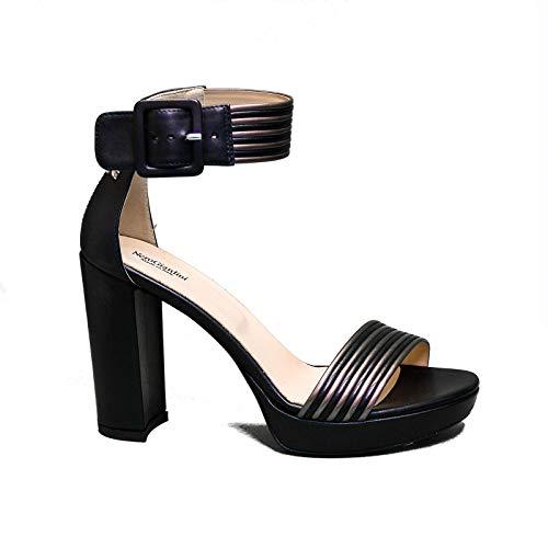 Nero Giardini sandaal vrouw met hoge zwarte hakken E012203D artikel 100 nieuwe lente zomer collectie 2020