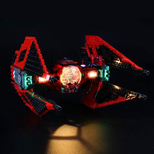 iCUANUTY Kit de Iluminación LED para Lego 75240, Kit de Luces Compatible con Lego Star Wars - Caza Tie del Mayor Vonreg (No Incluye Modelo Lego)