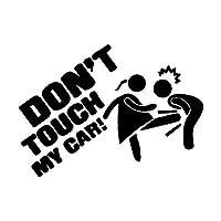 人格面白い執筆車のステッカー私の車に触れないでください (Color : 1)