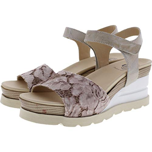 Brako / Modell: Eva Dana/Rosa-Beige Leder/Wechselfußbett/Art: 6036 / Damen Sandalette Größe 37 EU