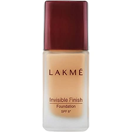 Lakmé Invisible Finish SPF 8 Foundation, Shade 01, Lightweight, Water Based, Liquid Foundation For Natural Glow, 25 ml