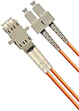 1ft Fiber Optic Adapter Cable LC (Female) to SC (Male) Multimode 50/125 Duplex