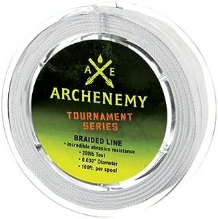 Archenemy Tournament Series Braided Bowfishing Line - White 100ft 200lbs.