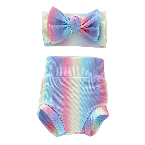 PHILSP Kleinkind Baby Kleinkind Mädchen Bloomers Shorts Unterwäsche Höschen, Windelbezug 6 Farbe Baby Bloomers 3# S.