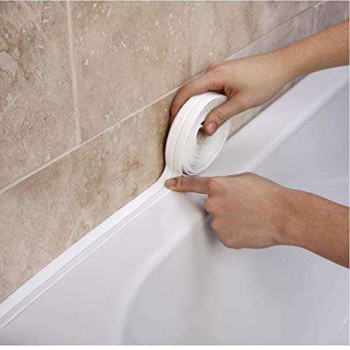 Lankater Band Caulk-Streifen PVC-selbstklebe Caulking Dichtband Für Spülbecken Toilette Badezimmer Dusche Und Badewanne 3.4mx38mm