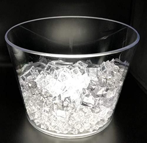 Secchiello transparente 8 litri con led luce bianca, per diverse bottiglie