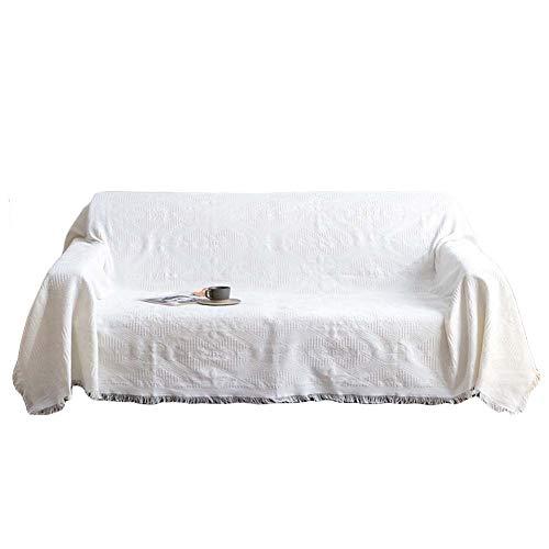 Reversible Funda De Sofá, Manta Sofa Invierno Grande, Cubre Sofas, Fundas de Sofá, Protector de Muebles Universal, Foulard Multiusos Apto para Todas Las Estaciones, Lavable,Beige 2,180 * 260