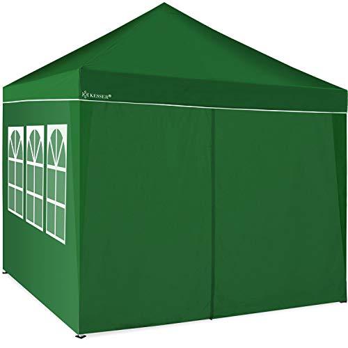 KESSER® 2X Seitenwand Grün für Pavillon 3x3m - Faltpavillon Pop Up | klappbar | platzsparend | verstaubar