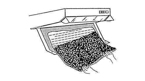 Dunstabzugshaubenzubehör/Filter für Dunstabzugshaube/Aktivkohle- und Fettfilter Set/Universell/Zuschneidbar