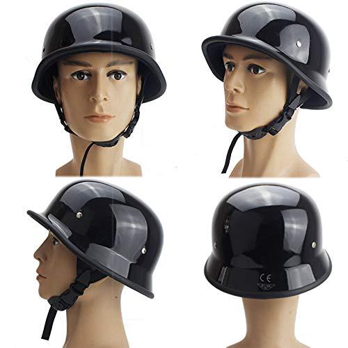 QYHT Sommer Motorrad Retro Helm, Mode Harley Motorrad Helm, DOT, ECE, CNS, ABN Sicherheitszertifizierung, 4 Farben erhältlich (D,XL)