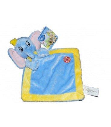 Doudou plat Dumbo bleu jaune losange Disney Nicotoy 578/8616