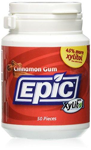 Epic Dental - Cinamomo azucarado Xylitol de la goma - 50Unidades