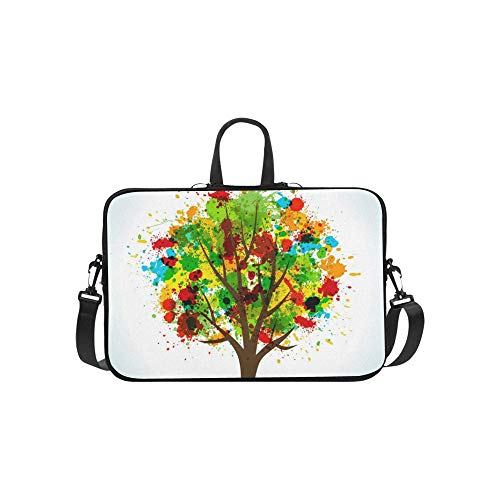 Tote Shoulder Bag for Women Tree Concept Your Lightweight Waterproof Business Casual Or School Best Laptop Briefcase for Business Travelling