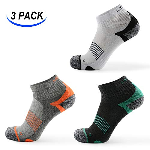 3 Pairs Low-Cut Running Socks, Men & Women, Half Cushioned Sneaker & Sports Socks, Athletic Running Socks UK Size 9-11 EU Size 44-47
