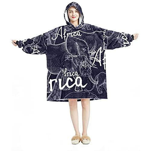 Sudadera con capucha de gran tamaño, manta de franela sherpa, con bolsillo para adultos y hombres, mujeres, notas musicales de discoteca, Multicolor 04, talla única grande