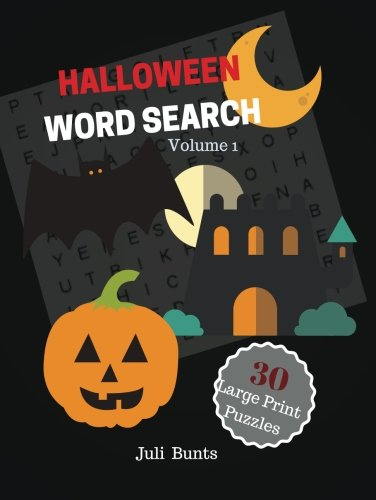 Halloween Word Search 30 Large Print Puzzles Volume 1: Halloween Puzzles Word Find Large Print Puzzles Book For Kids Grades 5 And Up
