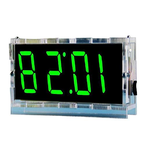 Yushu 1Set DIY Electrónico Reloj Kit LED Microcontrolador Digital Reloj de Control de Tiempo de Luz Termómetro Termómetro Blanco/Rojo/Naranja/Verde/Azul Alarma fuerte