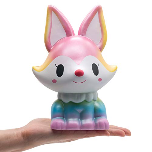 Fox Squishies Jumbo 8.1 Inch – Crefun NM9214 Giant Big Huge Squishies Slow Rising Cute Squishy Animals Gifts for Kid Stress Relief Toys, Super Soft Cream Scented Kawaii, 24-Hour Support