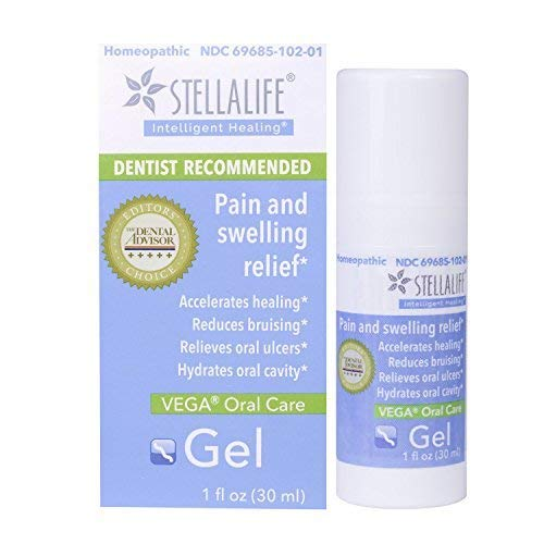 StellaLife VEGA Oral Gel: Dry Sockets, Dry Mouth, Teeth Extraction, Gum Surgery, Ulcers, Braces, Dentures & Cold Sores, Mucositis, Lesions & Lichen Planus Advanced Natural Dental Pain Relief