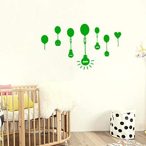 LSDAEER Slaapkamer muur Art Stickers Zelfklevende Creatieve Ballon Lamp Muursticker Slaapkamer Kinderkamer Achtergrond Decoratie Sticker Verwijderbare Sticker Groen